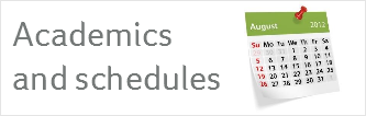 Academic and schedules