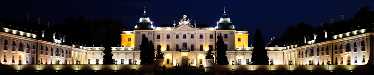 The Branicki Palace . Branicki Palace by night.