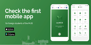 Download the free English-language myMUB mobile app for students