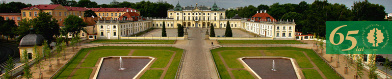 Rector and Vice Rectors . Branicki Palace - view from the front.
