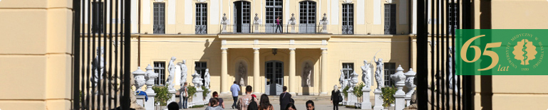 Students. Branicki Palace - view from the palace park.